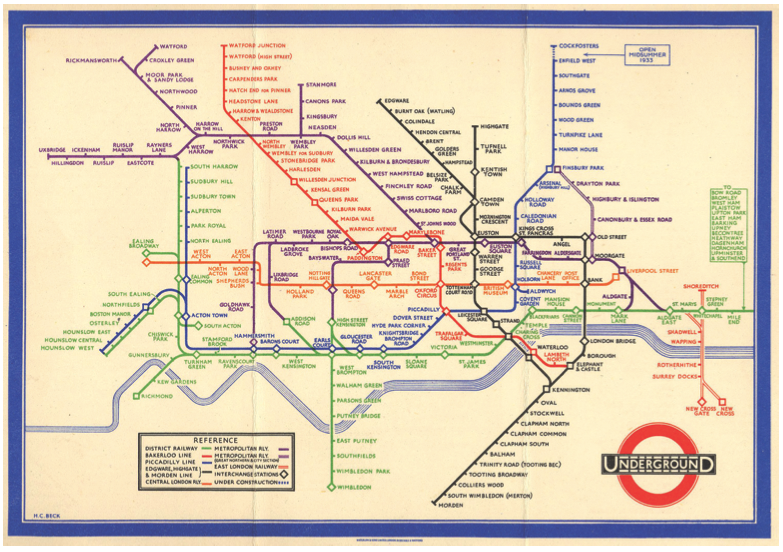 Harry Beck's map of the London Underground