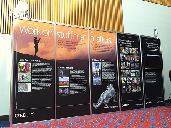 O'Reilly Animals display at OSCON 2012