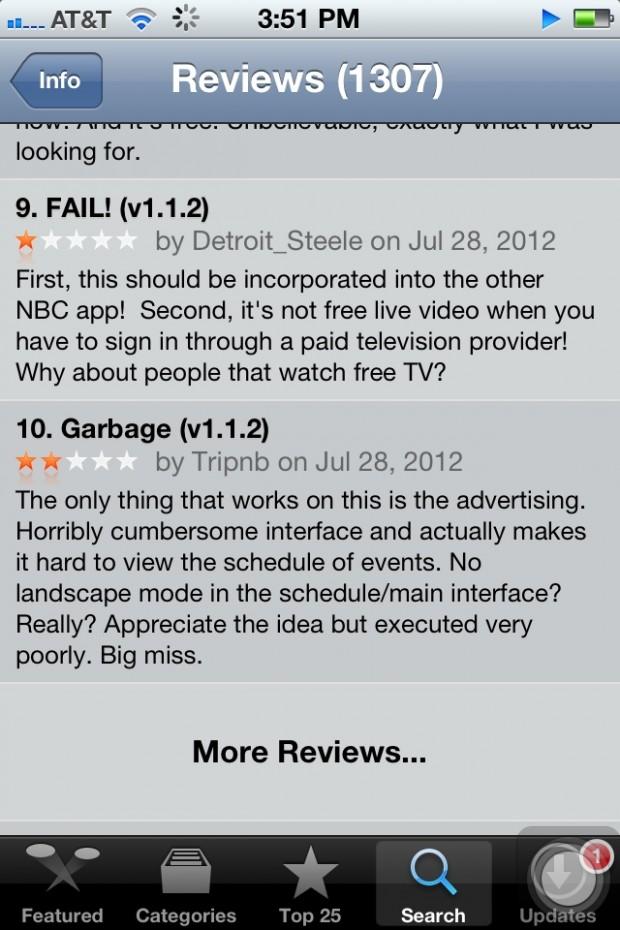 NBC App Reviews