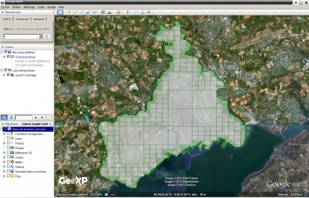 Map of France in Google Earth by Steven La Roux