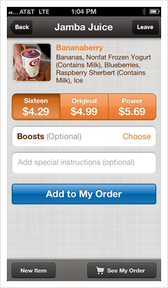 PayPal JambaJuice App