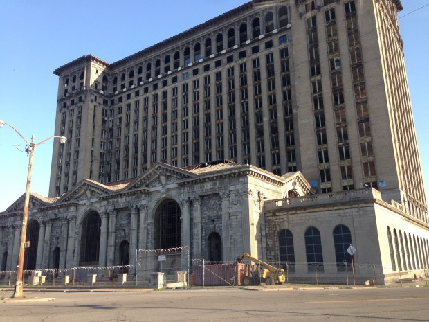 The now abandoned Michigan Central Station has become something of a metaphor for the industrial age.