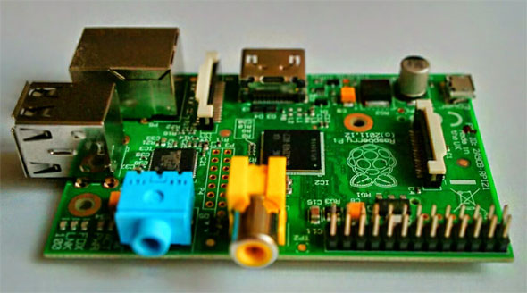 Raspberry Pi Board. Via Wikimedia Commons