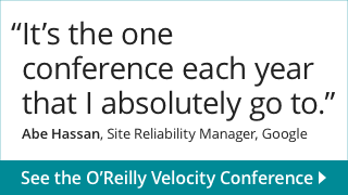 O'Reilly Velocity Conference. May 27-29, 2015. Santa, Clara, CA
