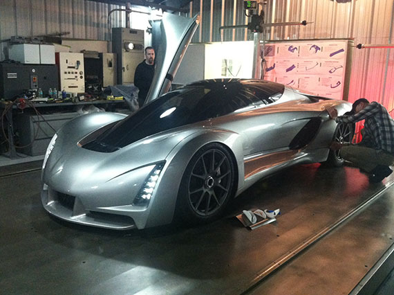 Node 3D-printed supercar