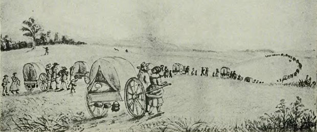 Mormon_Hand-Cart_Train_-_History_of_Iowa