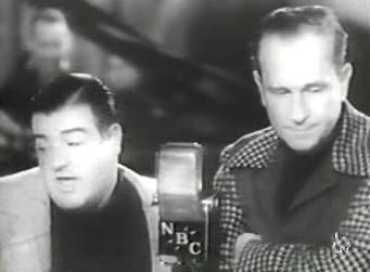 "Abbott and Costello performing ""Who's on First?"""