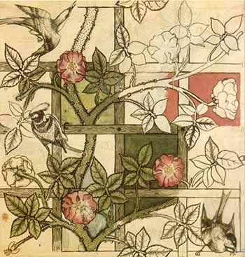 Sized-William_Morris_design_for_Trellis_wallpaper_1862