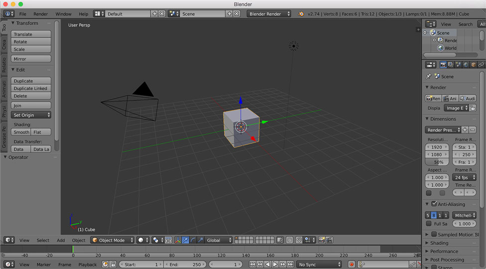 A developer's introduction to 3D animation and Blender - O